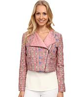 Anne Klein - Stitched Ikat Moto Jacket