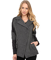 dollhouse - Asymetric Zip Coat w/ Quilted Polfill Sleeves