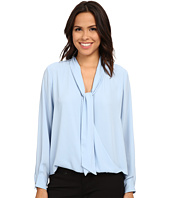Vince Camuto - Long Sleeve Tie Neck Wrap Blouse