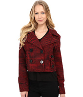 dollhouse - Double Breasted Notch Collar Crop Jacket