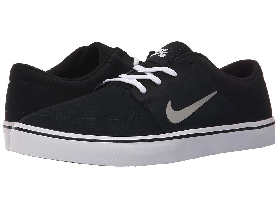 Nike SB - Portmore (Black/White/Gum Light Brown/Medium Grey) Mens Skate Shoes