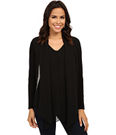 Vince Camuto - Mixed Media Top w/ Chiffon Overlay
