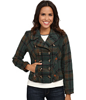 dollhouse - Double Breasted Notch Collar Jacket w/ Zipper Pockets