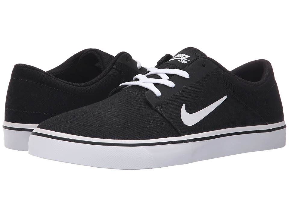 Nike SB Portmore Canvas (Black/White 2) Men