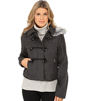 dollhouse - Zip Bomber Jacket w/ Toggle Closings & Faux Fur Hood