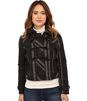 dollhouse - Hooded Zip-Front Bomber w/ Toggle Closings