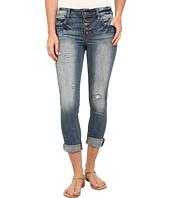 dollhouse - Five-Pocket Released Hem Skinny Jeans with Knee Slit in Tobacco