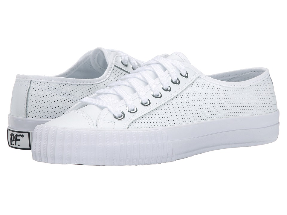 PF Flyers Center Lo Leather Perf White Mens Shoes