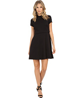 Donna Morgan - Short Sleeve Ponte Fit & Flare Popover Dress