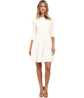Donna Morgan - 3/4 Sleeve Chevon Knit Fit & Flare Dress