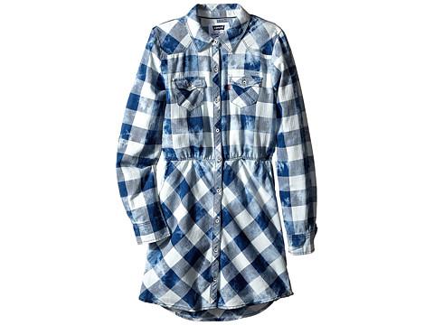 Levi's® Kids Long Sleeve Woven Dress w/ Roll Tab (Big Kids)