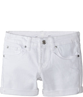 7 For All Mankind Kids - Midroll Shorts in Clean White (Big Kids)