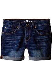 7 For All Mankind Kids - Midroll Shorts in Heritage Medium Dark (Big Kids)