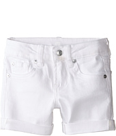 7 For All Mankind Kids - Midroll Shorts in Clean White (Little Kids)