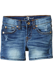 7 For All Mankind Kids - Midroll Shorts in Distressed Authentic (Little Kids)