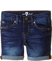 7 For All Mankind Kids - Midroll Shorts in Heritage Medium Dark (Little Kids)