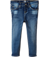 7 For All Mankind Kids - Ankle Skinny in Dusty Vintage Blue (Little Kids)