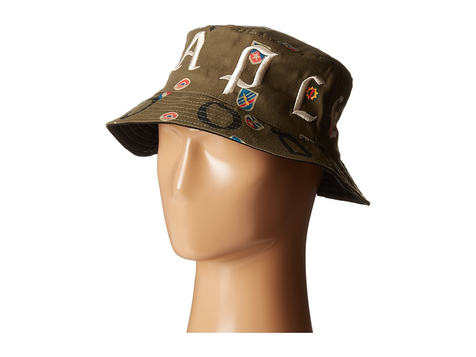 Staple Combat Bucket Hat Olive Caps