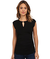 Vince Camuto - Cap Sleeve Keyhole Top w/ Hardware