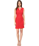 Adrianna Papell - Mini Medallion Lace Shift Dress