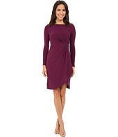 Adrianna Papell - Side Draped Jersey Dress