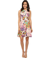 Adrianna Papell - Organza Layered Scuba Print Dress