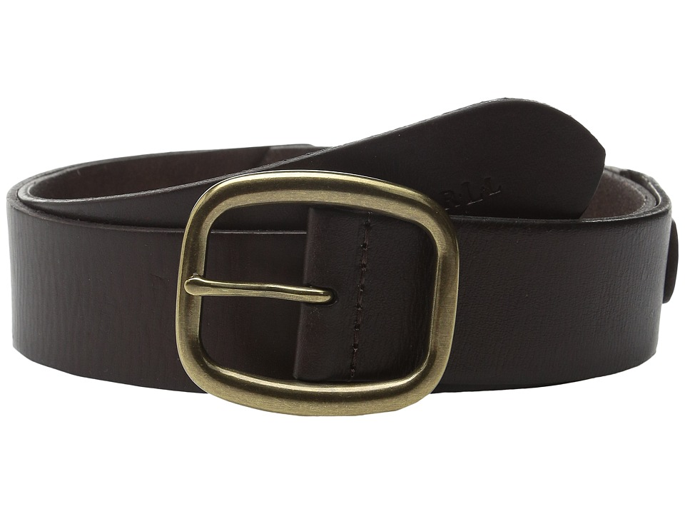 LAUREN Ralph Lauren 1 1/2 Simple Centerbar Jeans Belt Dark Brown Womens Belts