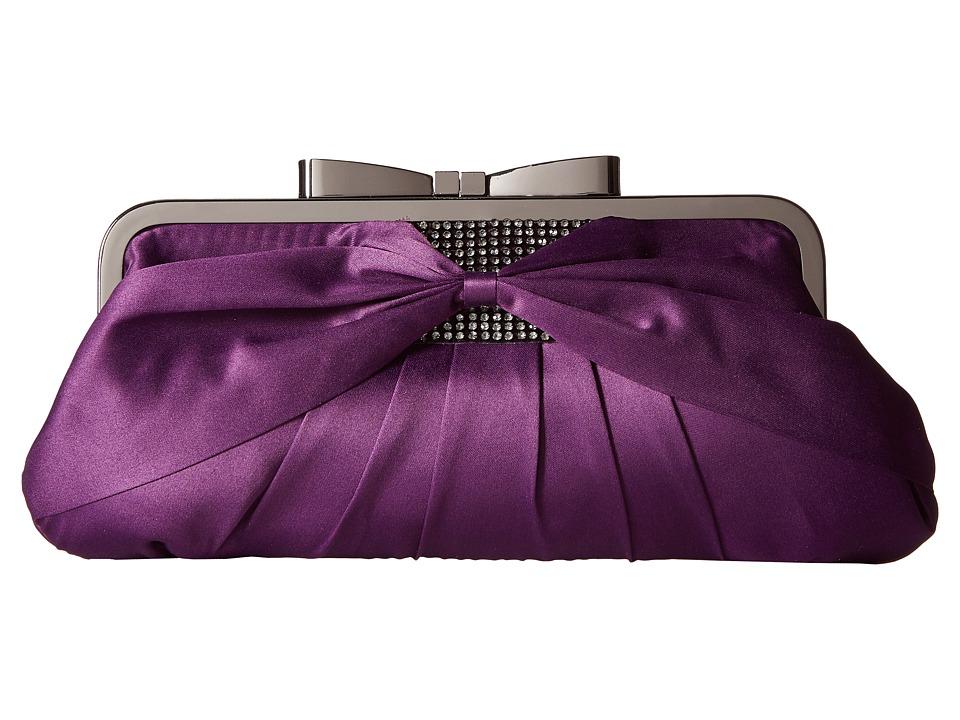 Jessica McClintock Arianna Clutch Purple Clutch Handbags