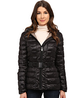 DKNY - Hooded Belted Jacket