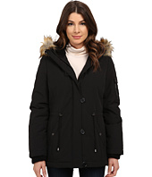 DKNY - Short Bomber with Faux Fur Hood