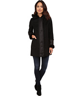DKNY - Hooded Faux Fur Shearling Trim