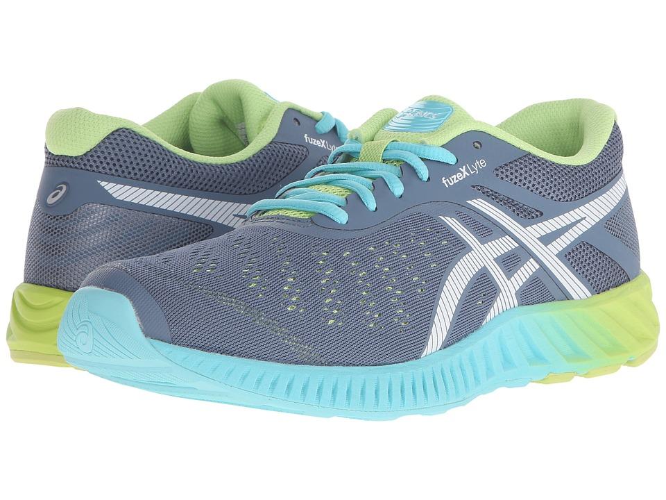 ASICS - FuzeX Lyte (Blue Mirage/White/Sharp Green) Womens Running Shoes