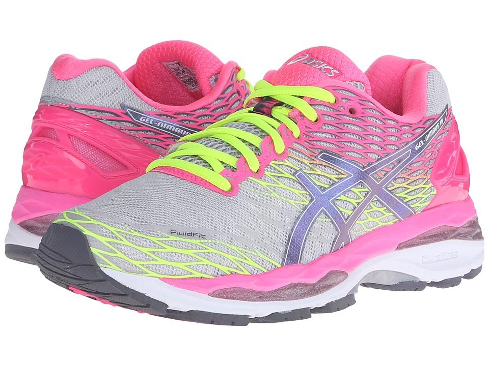 ASICS Gel-Nimbus 18 (Silver/Titanium/Hot Pink) Women