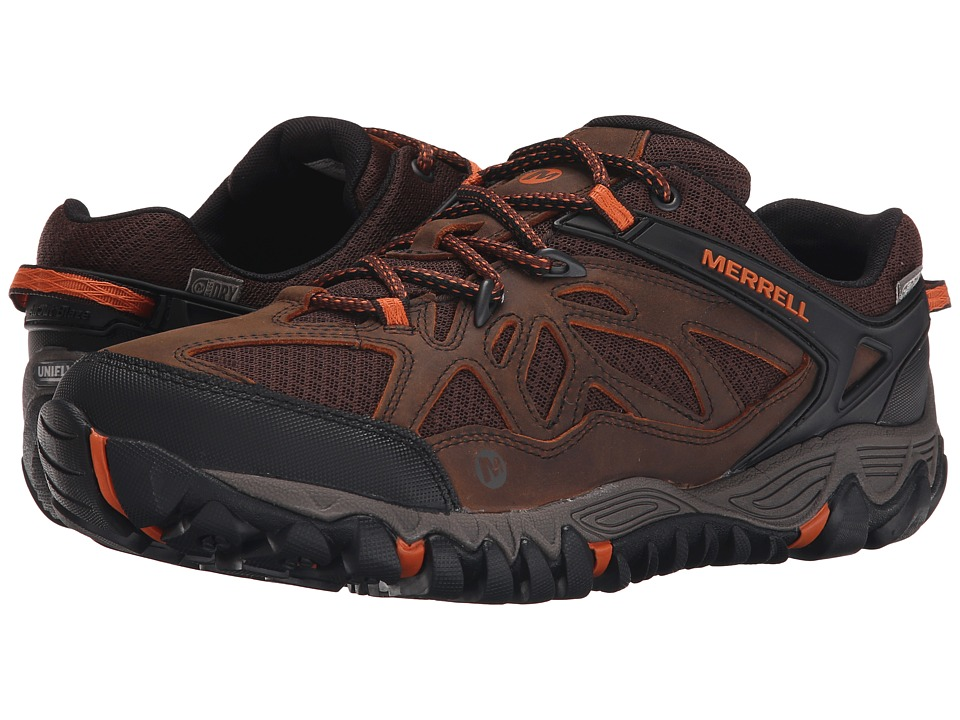 Merrell All Out Blaze Vent Waterproof Burnt Maple Mens Shoes