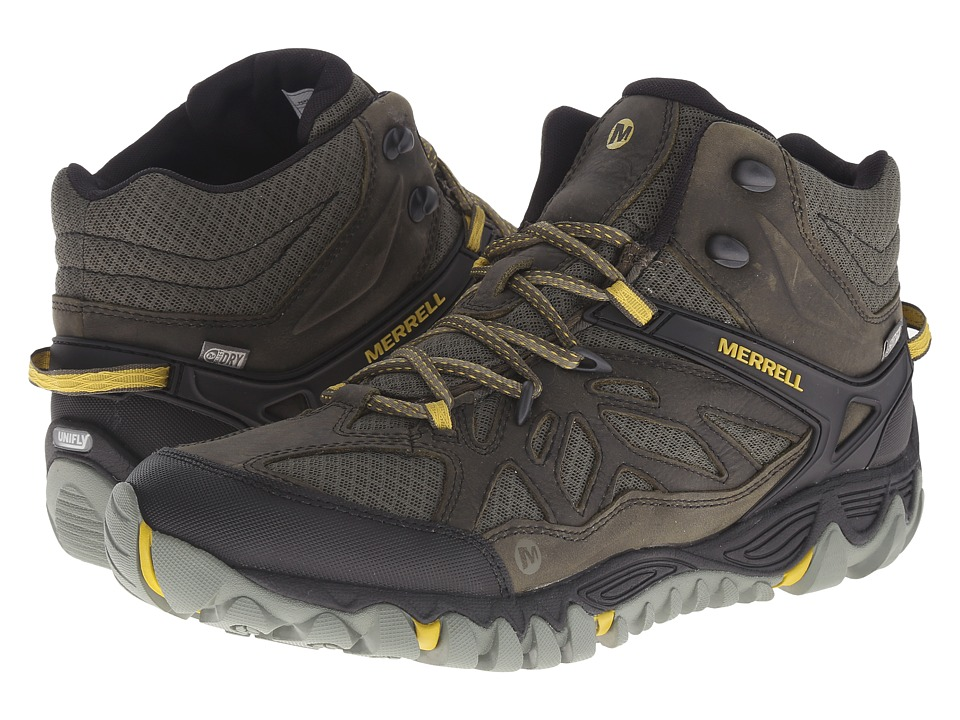 Merrell All Out Blaze Vent Mid Waterproof Olive Mens Shoes