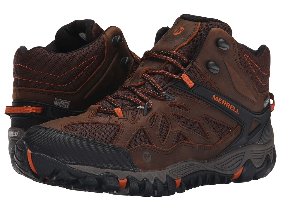Merrell All Out Blaze Vent Mid Waterproof Burnt Maple Mens Shoes