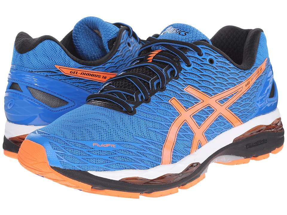 ASICS Gel-Nimbus 18 (Electric Blue/Hot Orange/Black) Men