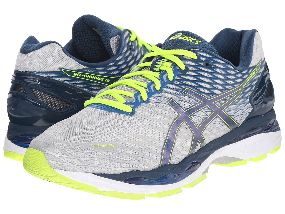 ASICS Gel-Nimbus 18 (Silver/Ink/Flash Yellow) Men