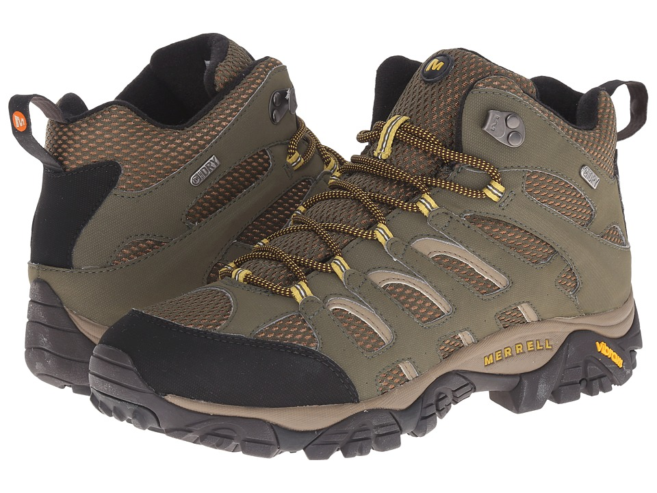 Merrell - Moab Mid Waterproof (Olive) Men