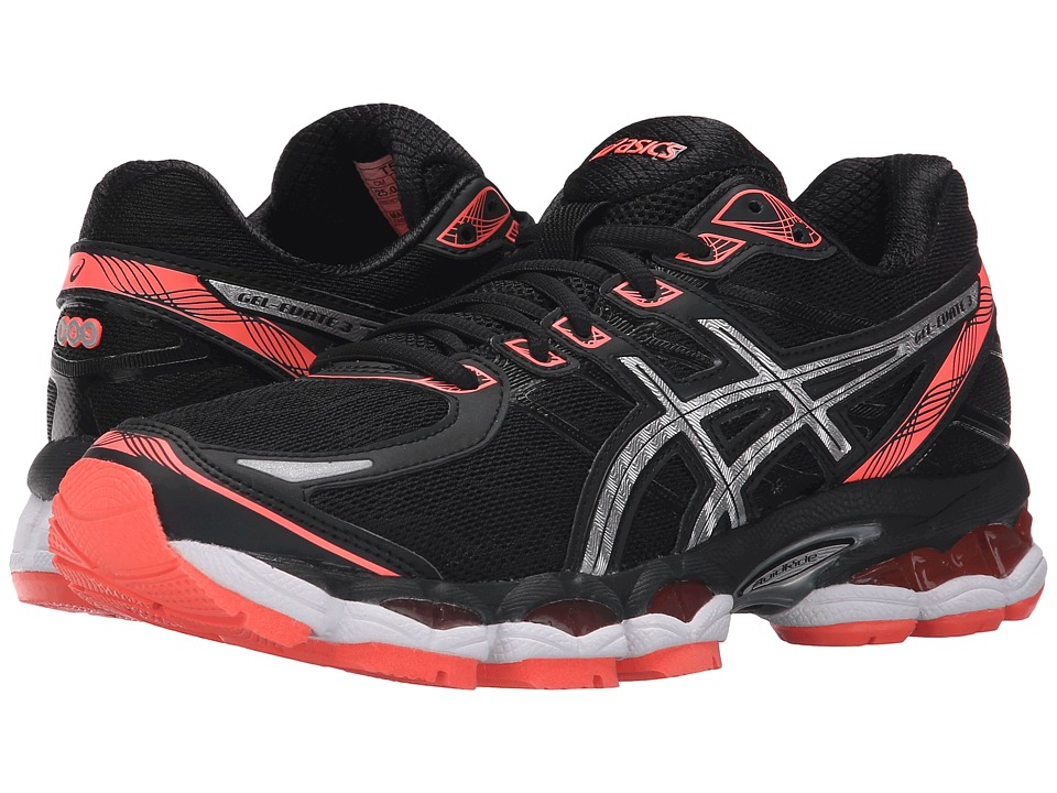 ASICS - Gel-Evate 3 (Black/Silver/Flash Coral) Women