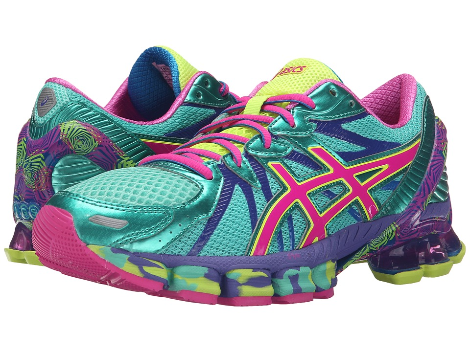 ASICS Gel-Sendai 3 (Aqua Mint/Pink Glow/Electric Blue) Women