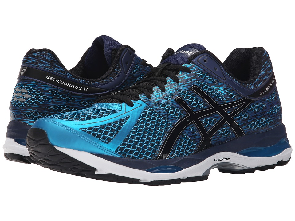 ASICS Gel Cumulus 17 Island Blue/Black/Indigo Blue Mens Running Shoes
