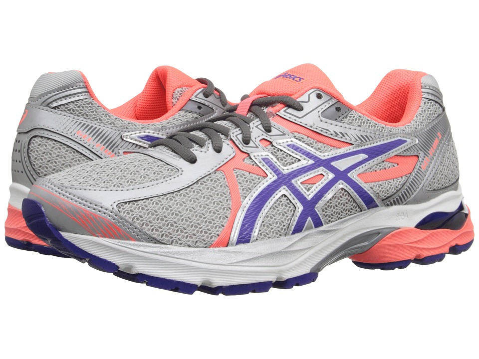 ASICS GEL-Flux 3 (Silver/Blue Berry/Flash Coral) Women