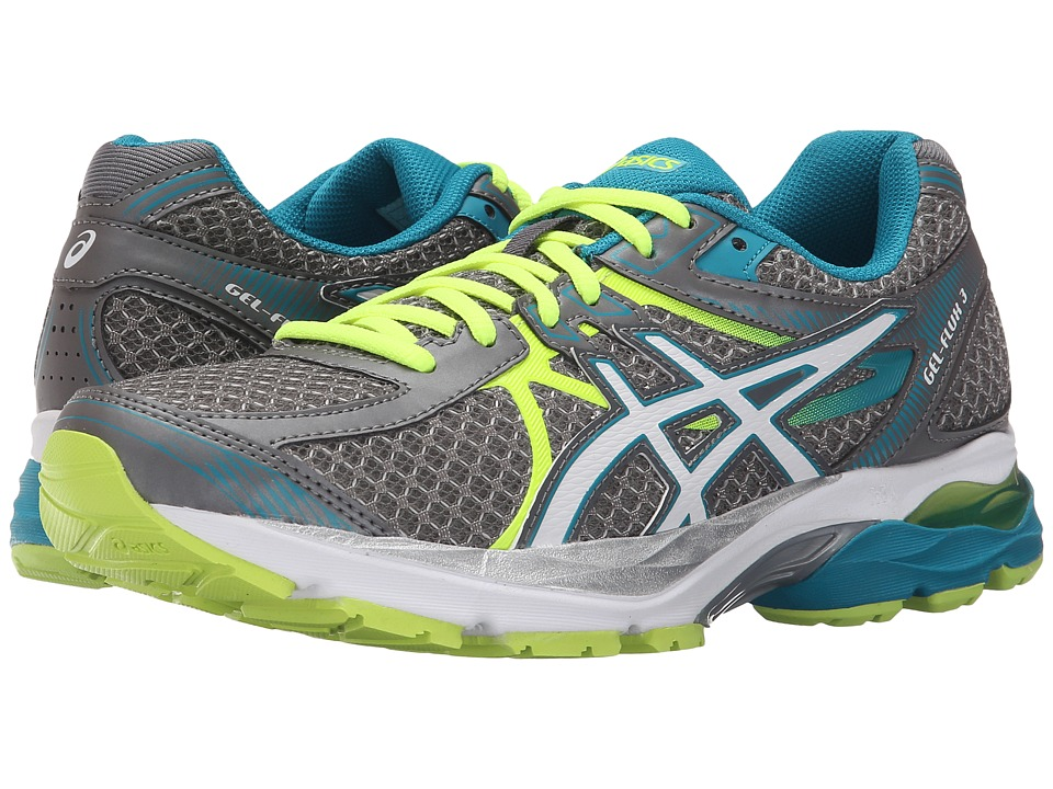 ASICS GEL-Flux 3 (Titanium/White/Enamel Blue) Women