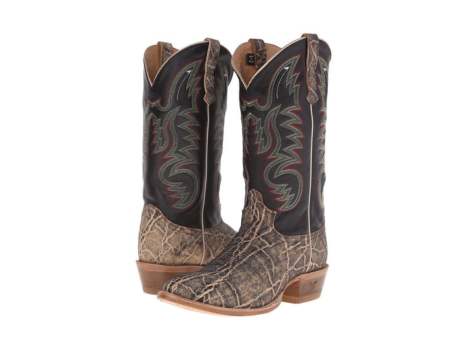 Old West Boots 60205 Oryx Elephant Print/Adrian Black Cowboy Boots