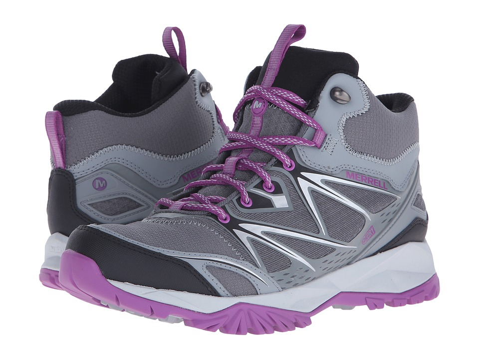Merrell - Capra Bolt Mid Waterproof (Grey/Purple) Women