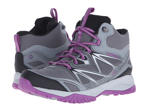 Merrell Capra Bolt Mid Waterproof - Grey/Purple