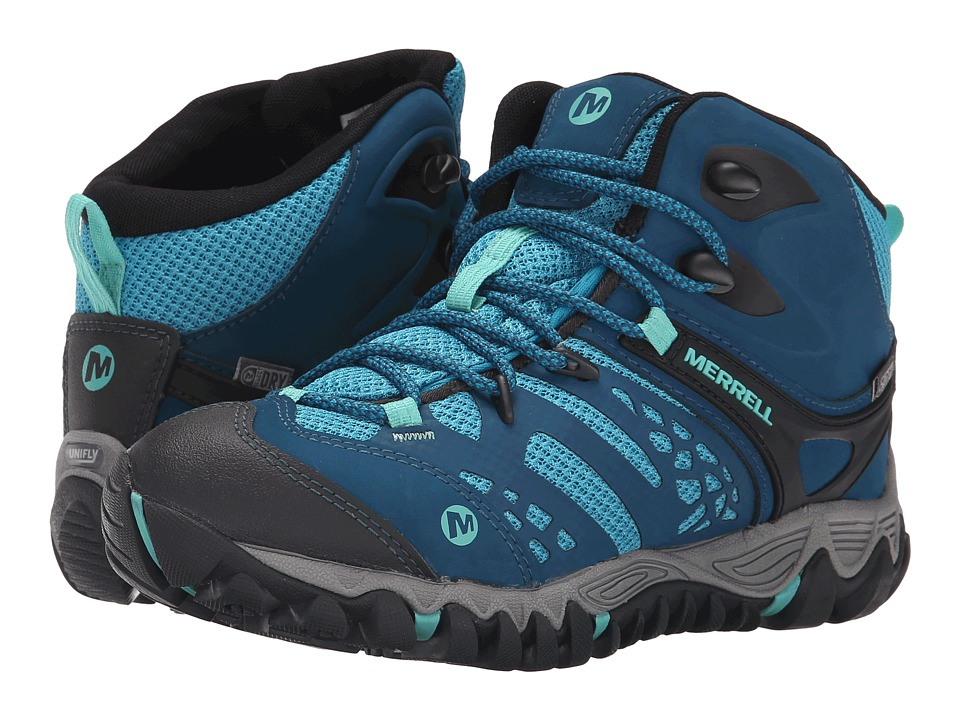 Merrell All Out Blaze Vent Mid Waterproof Turquoise/Aqua Womens Shoes