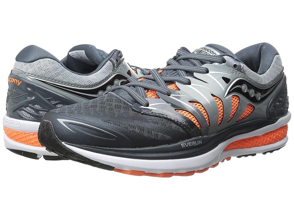 Saucony Hurricane ISO 2 (Grey/Charcoal/Orange) Men