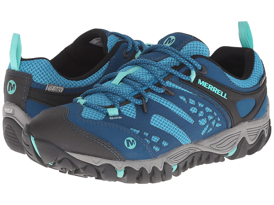 Merrell All Out Blaze Vent Waterproof Turquoise/Aqua Womens Shoes